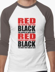 Red & Black Men's Baseball ¾ T-Shirt