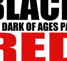 Red & Black Sticker