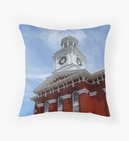 Brookville County Court House Throw Pillow