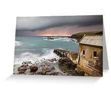Lizard Point Storm. Greeting Card