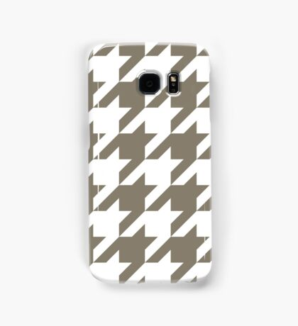 WarmGrey Large Houndstooth Samsung Galaxy Case/Skin