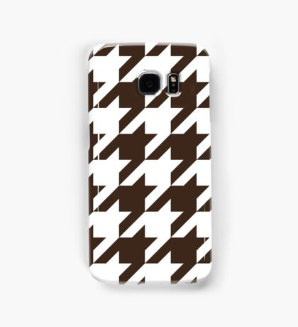 Chocolate Large Houndstooth Samsung Galaxy Case/Skin
