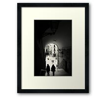 Down the archway Framed Print