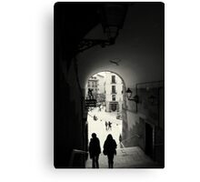 Down the archway Canvas Print