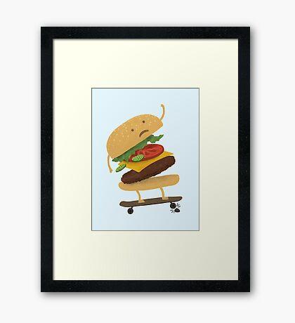 Burger Wipe-Out  Framed Print