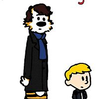 Sherlock Hobbes and John Calvin by TheIndoorCat