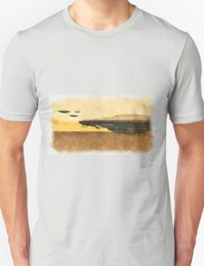 UFO Mothership Invasion by Raphael Terra Unisex T-Shirt