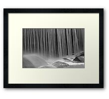 Silky waterfall Framed Print