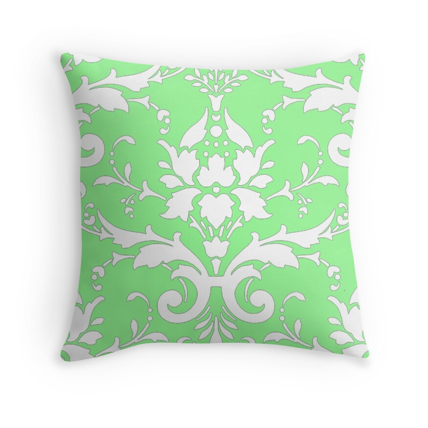Throw Pillows In Mint Green :