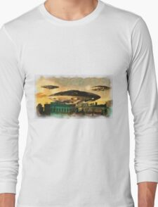 UFO INvasion by Raphael Terra Long Sleeve T-Shirt