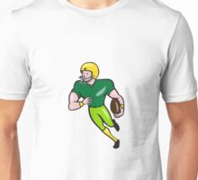 American Football Receiver Running Isolated Cartoon Unisex T-Shirt
