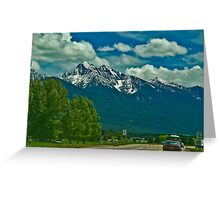 Montana Means Mountains, #3 Greeting Card