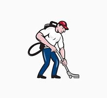 Commercial Cleaner Janitor Vacuum Cartoon Unisex T-Shirt