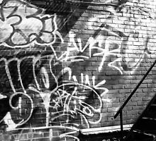 Graffiti in B&W by PPPhotoArt