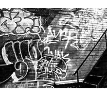 Graffiti in B&W Photographic Print