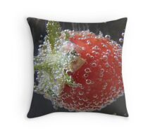 Strawberry fizz Throw Pillow