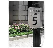 Speed Limit 5 Poster