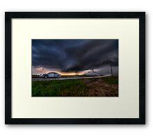 Storming over the Rental Car Framed Print
