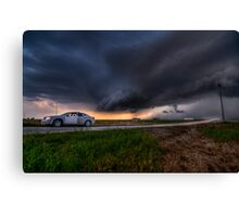 Storming over the Rental Car Canvas Print
