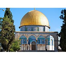 The Dome of the Rock... Photographic Print
