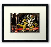 Bowser's Lair Framed Print