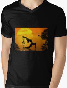 HARPIST Mens V-Neck T-Shirt