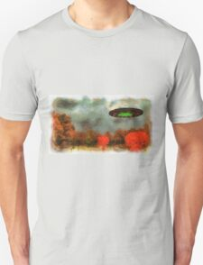 UFO Invasion Small Town by Raphael Terra Unisex T-Shirt