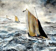 The Fishing Cobles return. by Colin Cartwright
