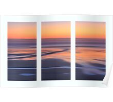 Ocean Triptych Poster