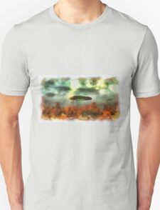UFO Invasion Small Town 2 by Raphael Terra Unisex T-Shirt