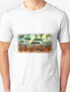 UFO Invasion Small Town 2 by Raphael Terra T-Shirt