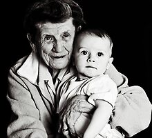 Seán and his great-grandmother by Ramona Farrelly