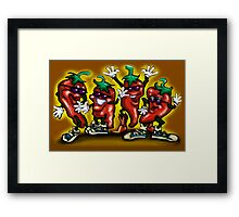 HOT Peppers Framed Print