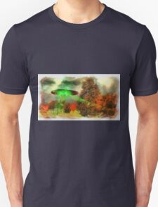 UFO Invasion Small Town 3 by Raphael Terra Unisex T-Shirt