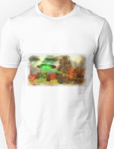 UFO Invasion Small Town 3 by Raphael Terra T-Shirt