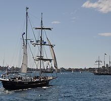 Tall Ships Departure, Fleet Review, Manly, Australia 2013 by muz2142