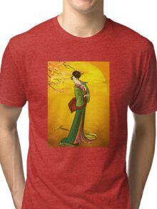 Beautiful Japanese girl Tri-blend T-Shirt