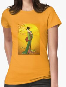 Beautiful Japanese girl Womens Fitted T-Shirt