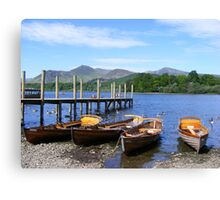 Boating - derwent water, Keswick Canvas Print