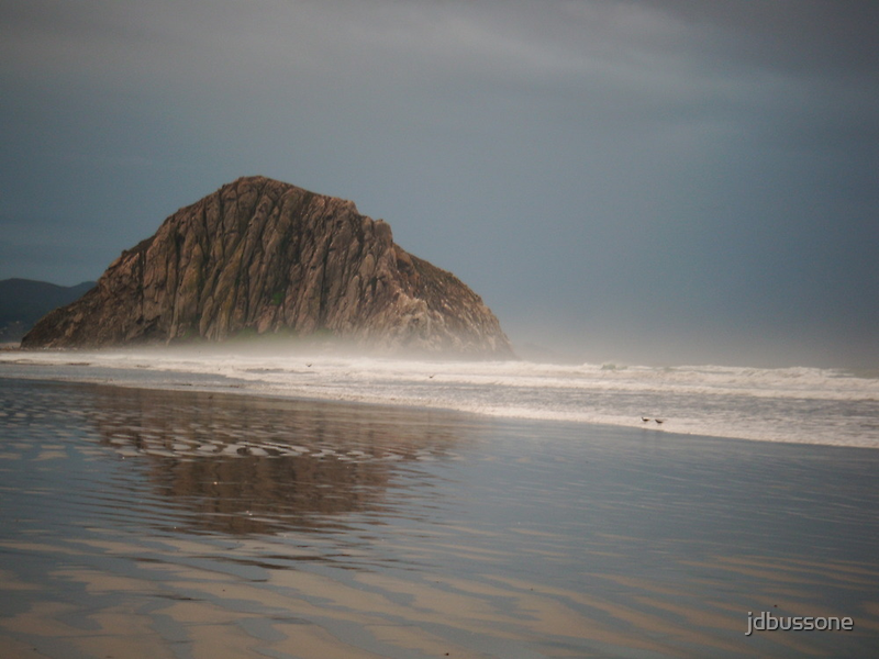 Reflections at Morro Rock by jdbussone