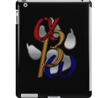 alpha beta omega dark iPad Case/Skin