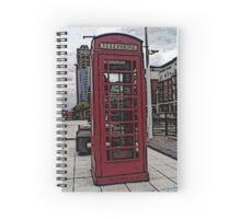 Pompey Phonebox Spiral Notebook
