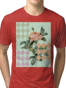Antique Rose With Diamonds Tri-blend T-Shirt