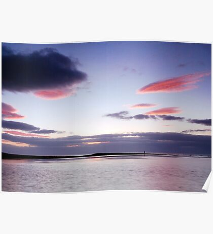 Fishing The Tide At Spey Bay Poster