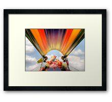 Long tail boat Framed Print