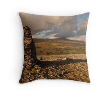 Whernside from Harry Hallam's Moss, Chapel-le-Dale, Ribblesdale, Yorkshire Dales Throw Pillow