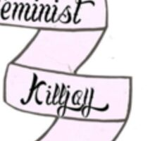 Feminist Kill Joy Ribbon Sticker