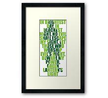 Superhero Wordart Framed Print