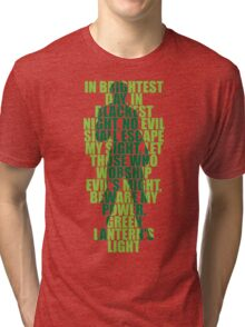 Superhero Wordart Tri-blend T-Shirt