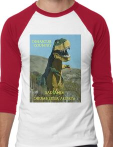 Dinasour Country, Drumheller Alberta Men's Baseball ¾ T-Shirt